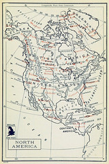 North American Products (sjrankin) Tags: illustration map historic 20july2017 edited library britishlibrary commerce products minerals mining economy northamerica