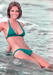 Cheryl Tiegs, photograph by Jay Maisel for Sports Illustrated, January 28, 1974 (Tom Simpson) Tags: pinup vintage 1970s woman sexy boobs sportsillustrated jaymaisel swimwear swimsuit cheryltiegs 1974 bikini