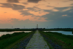 Sunset Elburg (hjvanleeuwen) Tags: elburg veluwe sunset zonsondergang nice colors golden hour gouden uur water wather