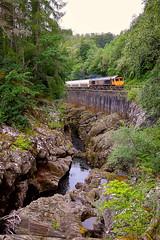 Gorgeous (whosoever2) Tags: unitedkingdom uk gb greatbritain nikon d7100 july 2017 railway railroad train highland scotland monessie gorge gbrf alcan 66733 class66 6e45