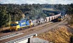 Black Diamonds (SJB Rail) Tags: pacific national pn coal trains aurizon hunter valley 93 class