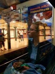 Reflex is a lonely time (mariaritam) Tags: metro budapest sofia reflex smileonsaturday halfaface