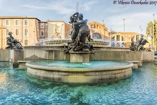 Close-up view, Fontana delle Naiadi, Piazza della Repubblica, Rome, Italy