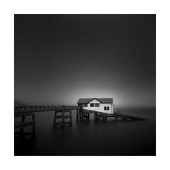 Saviour (Nick green2012) Tags: seascape blackandwhite square lifeboat station seagulls longexposure dark