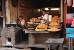 Sweetshop in Pushkar (Marek Stefunko) Tags: confectionary street india sweet shop people sweets pushkar cakes rajasthan men