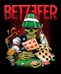 Hand to Hell (samezzz) Tags: betzefer tshirt tshirtdesign merch merchdesign illustraton poker cards whiskey chips skull zombie thrash slodge groove israel metal