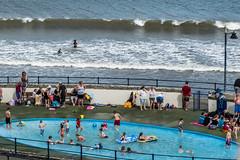 paddling (pamelaadam) Tags: thebiggestgroup fotolog digital summer august 2016 holiday2016 people lurkation sea filey engerlandshire
