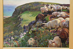 Our English Coasts (Strayed Sheep) by Hunt (meg21210) Tags: williamholmanhunt hunt tatebritain ourenglishcoasts strayedsheep preraphaelite 1852 oil canvas london england uk greatbritain millbank painting british english sheep coast strayed victorian