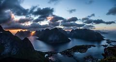 Lofoten Islands - Last night with midnight sun (Einar Angelsen) Tags: lofoten lofotenislands view norge norway norwegen midnight sun