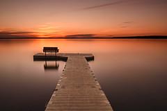 Sunset (vaibhav.pandeys) Tags: goldenhour evening landscape calm explore travel nature nikond750 nikon water lake reflection light longexposure orange dusk sunset