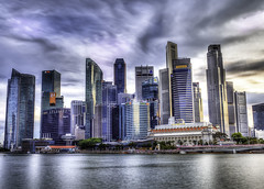 Cityscape sunset (~trigger_happy~) Tags: sunset mbfs singapore landscape city wide angle canon 1740mm blue