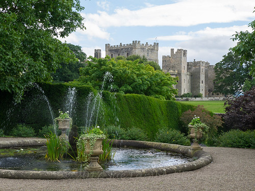 The medieval Raby Castle in County Durham is set among 200 acres of deer park.