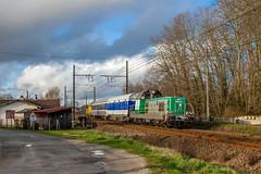 13 janvier 2014 BB 69235 Train 561927 Bordeaux -> Agen Cadaujac (33) (Anthony Q) Tags: 13 janvier 2014 bb 69235 train 561927 bordeaux agen cadaujac ferroviaire fret france sncf infra wagon bb69000 bb69235