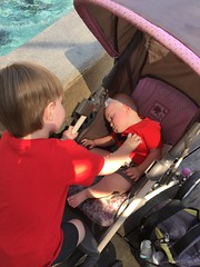 """Dani Asleep in Stroller at Disney • <a style=""""font-size:0.8em;"""" href=""""http://www.flickr.com/photos/109120354@N07/35596662950/"""" target=""""_blank"""">View on Flickr</a>"""