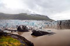 Svínafellsjökull V (Jack Landau) Tags: svínafellsjökull glacier pond murky water sky clouds landscape nature iceland glacial ice jack landau