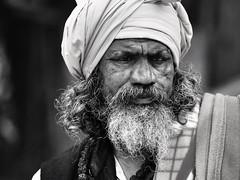 Kolkata - Sadhu b/w (sharko333) Tags: travel voyage reise street india indien westbengalen kalkutta kolkata কলকাতা asia asie asien people portrait man sadhu beard olympus em1 bw