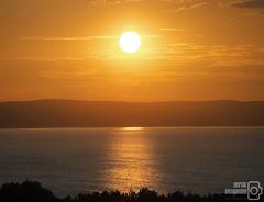 Sunset (dm.photo) Tags: sunset sun summer sea arran iselofarran scotland ayrshire culxean culzeancastle red hills silhouette