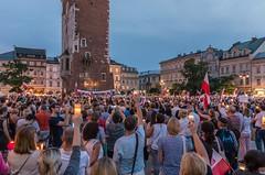 IMGP7326 (TomaszMazon) Tags: protest democracy krakow poland court antigovernment crowd