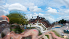 Delft station different (glukorizon) Tags: bicyclelane bicyclepath boom centrum delft distorted fietspad hss house huis nederland pad path plant railwaystation sliderssunday station tree vervormd zuidholland
