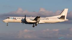 G-LGNR Saab 2000 Flybe - British European (Loganair) (kw2p) Tags: airport aviation egpf glgnr saab saab2000 loganair airline aircraft aeroplane airplane kw2p gaaec glasgowairport egpfgla scotland flybebritisheuropeanloganair