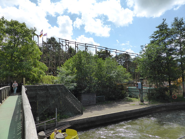 SW8 Construction Site 9th July 2017 - View from the Rapids exit bridge