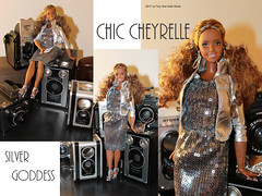 Chic Cheyrelle Collage (Its a Tiny 1/6 World) Tags: barbie diorama fashion