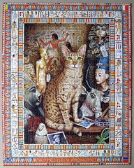 Egyptian Cat Conundrum (pefkosmad) Tags: jigsaw puzzle hobby leisure pastime 1000pieces used complete secondhand egyptiancatconundrum geofftristram pasttimes