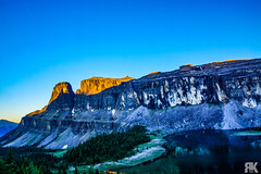 Rockbound Lake Sunrise (ryan.kole32) Tags: banff banffalberta banffnationalpark nationalpark alberta canada canadianrockies rockies rockymountains landscape nature beauty beautyinnature travel outdoors hiking sony sonya77 teamsony sunrise rockboundlake lake water bluesky peaceful calm tranquil castle castlemountain