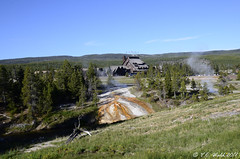 Across the Firehole River: Old Faithful Inn (V. C. Wald) Tags: yellowstonenationalpark robertreamer uppergeyserbasin oldfaithfulinn fireholeriver geothermalrunoff tamron16300mmdiiipzd nationalhistoriclandmark