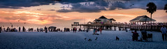Helios Descending (Robert_Keller) Tags: sunset beach gulfofmexico clearwater ocean nature outdoors tourists