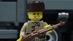 Lego Russian WWII Soldier (Force Movies Productions) Tags: wwii war weapons world wars lego gear rifles rifle russian toy toys trooper troop troops troopers custom guns gun ii minfig minifig picture military minifigure minifigs firearms history film soldier officer conflict pose cool photo photograpgh photograph photoshop army scene stopmotion gaz hats communist brickarms brickfilm brickmania brickizimo bricks brick eastern front