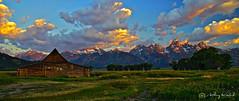 Grand Tetons and Mormon Barn Pano #2 (Anthony Kosobud - Photography) Tags: grand tetons grandtetons mormonbarn anthonykosobud wyoming