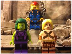 Marvel Heroes (David$19) Tags: lego legomarvel legomarvelsuperheroes shehulk nova kazar