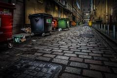 Renfield Lane (Billy Currie) Tags: glasgow back street alley city urban town cobbles bin bucket skip renfield lane trash scotland