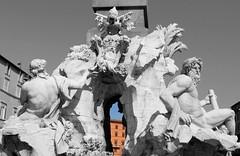 Fontana dei Quattro Fiumi, Piazza Navona (shadow_in_the_water) Tags: fountainofthefourrivers fontanadeiquattrofiumi obeliskofdomitian fountain sculpture danube ganges bernini gianlorenzobernini 1651 piazzanavona rome italy