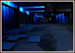 Blue Lights (rasafo66) Tags: landschaftsparkduisburg landschaftsparknord lapadu langzeitbelichtung longtermexposure lowlight duisburg industriebeinacht industriekulur industrialphotography lights colours sonyalpha sigma18200