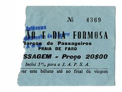 """Bilhete dos barcos """"Gilão"""" e """"Ria Formosa"""" (© Portimagem) Tags: portugal patrimónionacional historia bilhete faro gilão riaformosa algarve viação autocarro título ticket transportes públicos"""