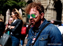 IMG_4972 Street candid (marinbiker 1961) Tags: streetcandid people male man denimjacket sunglasses beard dof