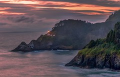 Heceta Head Haze (Cole Chase Photography) Tags: lighthouse hecetahead oregon pacificnothwest dusk sunset summer ocean coast