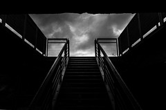 355/365 (alex bo.) Tags: 365 365project ricohgr ricoh noiretblanc blackandwhite dark black monochrome mono sky clouds street streetphotography urban city nantes stairway stairs upstairs escalier ciel nuages