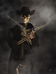 Crossbones (deskridge) Tags: skeletongunslinger crossbones skeleton bones gunslinger gunfighter western horror skeletal undead ghost colddeadhand gunrightsgun outlaw villain blackhat skull weirdwest haunted fear danieleskridge eskridge