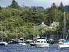 Balmaha Harbour from Inchcailloch Jetty, Stirling, Scotland, 26 July 2017 (AndrewDixon2812) Tags: balmaha harbour stirling scotland loch lomond boats yachts jetty inchcailloch island