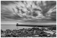 South Breakwater (ianrwmccracken) Tags: rock blur aberdeen water nd firecrest breakwater sea longexposure shore beach 16stop monochrome hitech cloud lighthouse wideangle movement seascape bw coast harbour filter