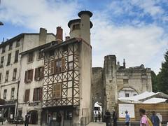 Medieval house and Roman forum portico from Rue Chantelouve, Vienne, France (Paul McClure DC) Tags: vienne france isère july2017 dauphiné historic architecture roman