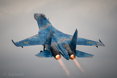 Sukhoi SU27 (AdrianH Photography) Tags: nikon aviation airshows aeroplanes airtattoo riat jets