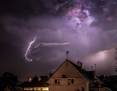 Lightning from our house (the tamron tog) Tags: lightning thunderstorm storms cloud canon uk nightsky devon