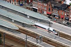 Gare de Liège-Guillemins (Liège 2017) (LiveFromLiege) Tags: liège luik wallonie belgique architecture liege lüttich liegi lieja belgium europe city visitezliège visitliege リエージュ льеж urban belgien belgie belgio garedesguillemins santiagocalatrava ice icetrain