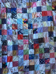 Patchwork quilt (Bennydorm) Tags: piecebypiece squares stitch stitchery patching needlecraft darning iphone5s patches needlework cloth fabrics colourful colours homemade handicrafts sewing patchworkquilt patchwork quilt