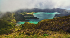 Lagoa do Fogo (free3yourmind) Tags: lagoa do fogo azores saomiguel fog clouds cloudy day outdoor nature lake crater volcano view panoramic scenic