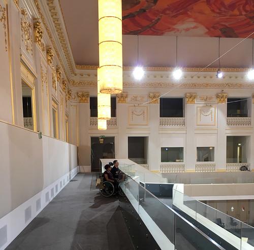 Ausweichquartier des Parlaments am Heldenplatz und in der Hofburg